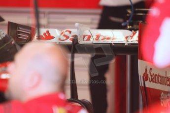 World © Octane Photographic Ltd. Friday 5th September 2014, Italian GP, Monza - Italy - Formula 1 Practice 1. Scuderia Ferrari F14T rear wing. Digital Ref: 1096CB7D8900