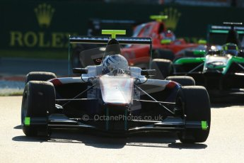 World © Octane Photographic Ltd. Saturday 6th September 2014. GP3 Race 1, Italian GP, Monza - Italy. Matheo Tuscher - Jenzer Motorsport and Nick Yelloly - Status Grand Prix. Digital Ref : 1108LB1D6750