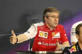World © Octane Photographic Ltd. Friday 3rd October 2014, Japanese Grand Prix - Suzuka. - Formula 1 Drivers' Press conference. Scuderia Ferrari Chassis Technical Director – Pat Fry. Digital Ref: