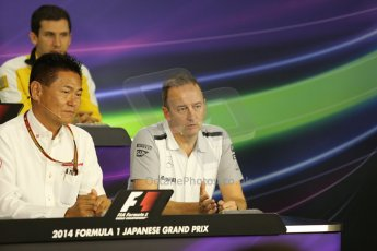 World © Octane Photographic Ltd. Friday 3rd October 2014, Japanese Grand Prix - Suzuka. - Formula 1 Drivers' Press conference. McLaren Mercedes Chief Operating Officer (COO) – Jonathan Neale. Digital Ref: