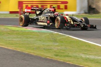 World © Octane Photographic Ltd. Saturday 4th October 2014, Japanese Grand Prix - Suzuka. - Formula 1 Qualifying. Lotus F1 Team E22 – Pastor Maldonado. Digital Ref:
