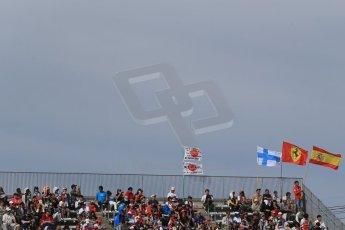 World © Octane Photographic Ltd. Saturday 4th October 2014, Japanese Grand Prix - Suzuka. - Formula 1 Qualifying. Fans flags. Digital Ref: