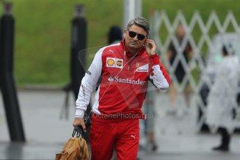World © Octane Photographic Ltd. Sunday 5th October 2014, Japanese Grand Prix - Suzuka. Formula 1 Paddock. Scuderia Ferarri - Marco Mattiacci. Digital Ref: 1138CB5D6569