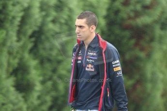 World © Octane Photographic Ltd. Sunday 5th October 2014, Japanese Grand Prix - Suzuka. Formula 1 Paddock. Infiniti Red Bull Racing reserve driver - Sebastien Buemi. Digital Ref: 1138CB5D6631