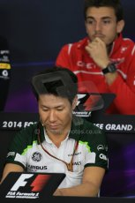World © Octane Photographic Ltd. Thursday 2nd October 2014, Japanese Grand Prix - Suzuka. - Formula 1 Drivers' Press conference. Caterham F1 Team – Kamui Kobayashi. Digital Ref: 1131LB1D4256