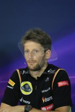 World © Octane Photographic Ltd. Thursday 2nd October 2014, Japanese Grand Prix - Suzuka. - Formula 1 Drivers' Press conference. Lotus F1 Team - Romain Grosjean. Digital Ref: 1131LB1D4406