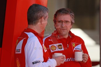 World © Octane Photographic Ltd. 2014 Formula 1 Winter Testing, Circuito de Velocidad, Jerez Winter testing set up day – Monday 27th January 2014. Scuderia Ferrari Technical Director Pat Fry. Digital Ref : 0879cb1d8837