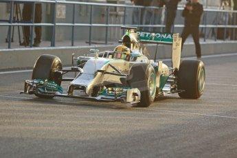 World © Octane Photographic Ltd. 2014 Formula 1 Winter Testing, Circuito de Velocidad, Jerez. Tuesday 28th January 2014. Day 1. Mercedes AMG Petronas F1 W05 – Lewis Hamilton. Digital Ref: 0882cb1d9294