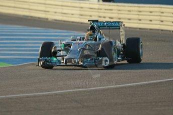 World © Octane Photographic Ltd. 2014 Formula 1 Winter Testing, Circuito de Velocidad, Jerez. Tuesday 28th January 2014. Day 1. Mercedes AMG Petronas F1 W05 – Lewis Hamilton. Digital Ref: 0882cb1d9309