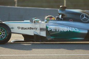 World © Octane Photographic Ltd. 2014 Formula 1 Winter Testing, Circuito de Velocidad, Jerez. Tuesday 28th January 2014. Day 1. Mercedes AMG Petronas F1 W05 – Lewis Hamilton. Digital Ref: 0882cb1d9317