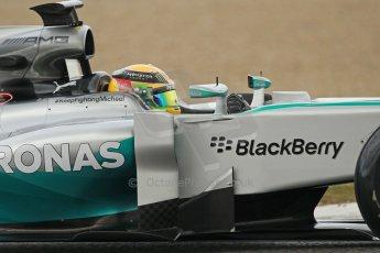 World © Octane Photographic Ltd. 2014 Formula 1 Winter Testing, Circuito de Velocidad, Jerez. Tuesday 28th January 2014. Day 1. Mercedes AMG Petronas F1 W05 – Lewis Hamilton. Digital Ref: 0882cb1d9460