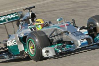 World © Octane Photographic Ltd. 2014 Formula 1 Winter Testing, Circuito de Velocidad, Jerez. Tuesday 28th January 2014. Day 1. Mercedes AMG Petronas F1 W05 – Lewis Hamilton. Digital Ref: 0882cb1d9493