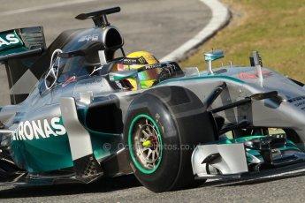 World © Octane Photographic Ltd. 2014 Formula 1 Winter Testing, Circuito de Velocidad, Jerez. Tuesday 28th January 2014. Day 1. Mercedes AMG Petronas F1 W05 – Lewis Hamilton. Digital Ref: 0882cb1d9508