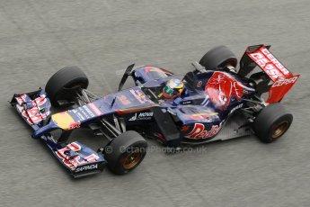 World © Octane Photographic Ltd. 2014 Formula 1 Winter Testing, Circuito de Velocidad, Jerez. Tuesday 28th January 2014. Day 1. Scuderia Toro Rosso STR9 - Jean-Eric Vergne. Digital Ref: 0882cb1d9547