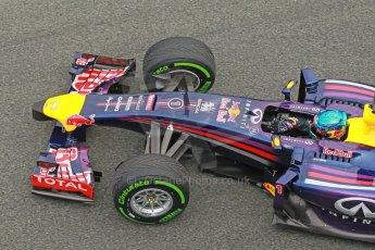 World © Octane Photographic Ltd. 2014 Formula 1 Winter Testing, Circuito de Velocidad, Jerez. Tuesday 28th January 2014. Day 1. Infiniti Red Bull Racing RB10 - Sebastian Vettel. Digital Ref: 0882cb1d9714
