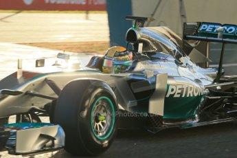 World © Octane Photographic Ltd. 2014 Formula 1 Winter Testing, Circuito de Velocidad, Jerez. Tuesday 28th January 2014. Day 1. Mercedes AMG Petronas F1 W05 – Lewis Hamilton. Digital Ref: 0882lb1d0062