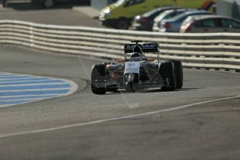 World © Octane Photographic Ltd. 2014 Formula 1 Winter Testing, Circuito de Velocidad, Jerez. Tuesday 28th January 2014. Day 1. Sahara Force India VJM07 – Sergio Perez. Digital Ref: 0882lb1d0112