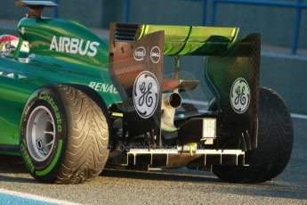 World © Octane Photographic Ltd. 2014 Formula 1 Winter Testing, Circuito de Velocidad, Jerez. Thursday 30th January 2014. Day 3. Caterham F1 Team CT05 – Robin Frijns. Digital Ref: 0887cb1d0389