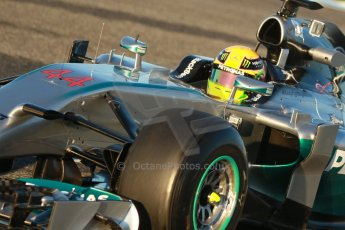 World © Octane Photographic Ltd. 2014 Formula 1 Winter Testing, Circuito de Velocidad, Jerez. Thursday 30th January 2014. Day 3. Mercedes AMG Petronas F1 W05 – Lewis Hamilton. Digital Ref: 0887cb1d0442
