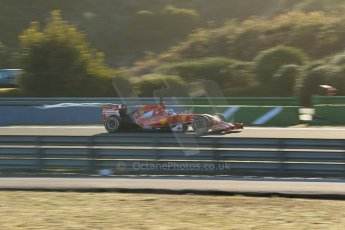 World © Octane Photographic Ltd. 2014 Formula 1 Winter Testing, Circuito de Velocidad, Jerez. Thursday 30th January 2014. Day 3. Scuderia Ferrari F14T - Fernando Alonso. Digital Ref: 0887lb1d1761