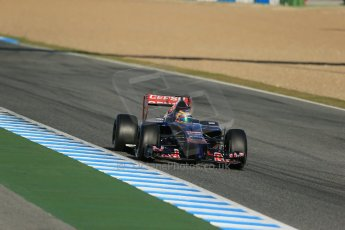 World © Octane Photographic Ltd. 2014 Formula 1 Winter Testing, Circuito de Velocidad, Jerez. Thursday 30th January 2014. Day 3. Scuderia Toro Rosso STR9 - Jean-Eric Vergne. Digital Ref: 0887lb1d2125