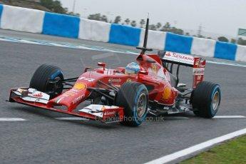 World © Octane Photographic Ltd. 2014 Formula 1 Winter Testing, Circuito de Velocidad, Jerez. Friday 31st January 2014. Day 4. Scuderia Ferrari F14T - Fernando Alonso. Digital Ref: 0888cb1d1280