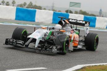 World © Octane Photographic Ltd. 2014 Formula 1 Winter Testing, Circuito de Velocidad, Jerez. Friday 31st January 2014. Day 4. Sahara Force India VJM07 – Daniel Juncadella. Digital Ref: 0888cb1d1449