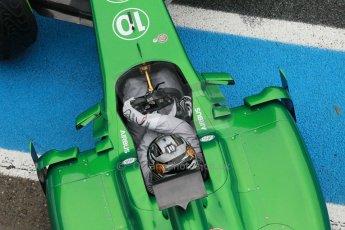 World © Octane Photographic Ltd. 2014 Formula 1 Winter Testing, Circuito de Velocidad, Jerez. Friday 31st January 2014. Day 4. Caterham F1 Team CT05 – Kamui Kobayashi. Digital Ref: 0888cb1d1654