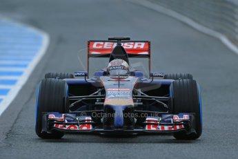 World © Octane Photographic Ltd. 2014 Formula 1 Winter Testing, Circuito de Velocidad, Jerez. Friday 31st January 2014. Day 4. Scuderia Toro Rosso STR 9 – Daniil Kvyat. Digital Ref: 0888lb1d2805