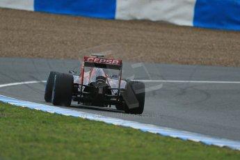 World © Octane Photographic Ltd. 2014 Formula 1 Winter Testing, Circuito de Velocidad, Jerez. Friday 31st January 2014. Day 4. Scuderia Toro Rosso STR 9 – Daniil Kvyat. Rear end detail. Digital Ref: 0888lb1d3175