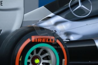 World © Octane Photographic Ltd. 2014 Formula 1 Winter Testing, Circuito de Velocidad, Jerez. Tuesday 27th January 2014. Mercedes AMG Petronas F1 W05 launch. Digital Ref: 0884cb1d9158