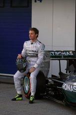 World © Octane Photographic Ltd. 2014 Formula 1 Winter Testing, Circuito de Velocidad, Jerez. Tuesday 27th January 2014. Mercedes AMG Petronas F1 W05 launch – Nico Rosberg. Digital Ref: 0884lb1d9684