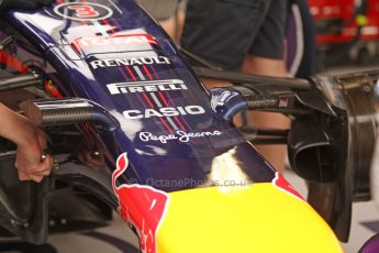 World © Octane Photographic Ltd. Thursday 22nd May 2014. Monaco - Monte Carlo - Formula 1 Practice 1. Infiniti Red Bull Racing RB10 - new nose camera mountings. Digital Ref: 0958CB7D1982