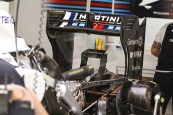 World © Octane Photographic Ltd. Thursday 22nd May 2014. Monaco - Monte Carlo - Formula 1 Practice 1. Williams Martini Racing FW36 – Rear wing. Digital Ref: 0958CB7D2035