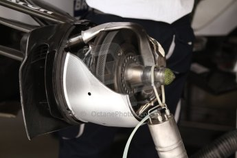 World © Octane Photographic Ltd. Thursday 22nd May 2014. Monaco - Monte Carlo - Formula 1 Practice 1. Williams Martini Racing FW36 – Front brake with sheathing removed. Digital Ref: 0958CB7D2063