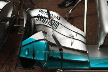World © Octane Photographic Ltd. Thursday 22nd May 2014. Monaco - Monte Carlo - Formula 1 Practice 1. Mercedes AMG Petronas F1 W05 Hybrid - Front wing. Digital Ref: 0958CB7D5025