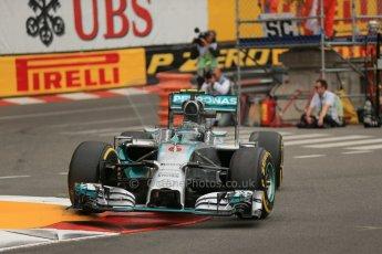 World © Octane Photographic Ltd. Thursday 22nd May 2014. Monaco - Monte Carlo - Formula 1 Practice 1. Mercedes AMG Petronas F1 W05 Hybrid - Nico Rosberg. Digital Ref: 0958LB1D3856