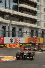 World © Octane Photographic Ltd. Thursday 22nd May 2014. Monaco - Monte Carlo - Formula 1 Practice 1. Lotus F1 Team E22 – Pastor Maldonado. Digital Ref: 0958LB1D3902