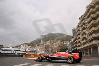 World © Octane Photographic Ltd. Thursday 22nd May 2014. Monaco - Monte Carlo - Formula 1 Practice 1. Marussia F1 Team MR03 - Max Chilton. Digital Ref: 0958LB1D6117