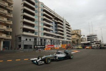 World © Octane Photographic Ltd. Thursday 22nd May 2014. Monaco - Monte Carlo - Formula 1 Practice 1. Mercedes AMG Petronas F1 W05 Hybrid – Lewis Hamilton. Digital Ref: 0958LB1D6363