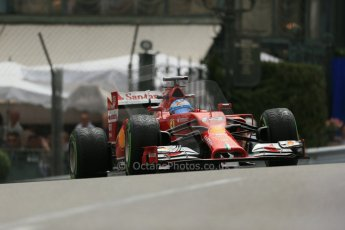 World © Octane Photographic Ltd. Thursday 22nd May 2014. Monaco - Monte Carlo - Formula 1 Practice 2. Scuderia Ferrari F14T - Fernando Alonso. Digital Ref: 0960LB1D4607
