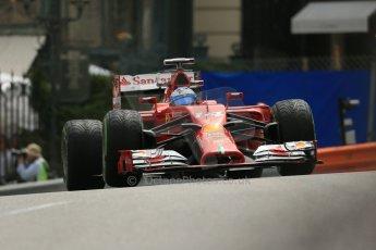 World © Octane Photographic Ltd. Thursday 22nd May 2014. Monaco - Monte Carlo - Formula 1 Practice 2. Scuderia Ferrari F14T - Fernando Alonso. Digital Ref: 0960LB1D4675