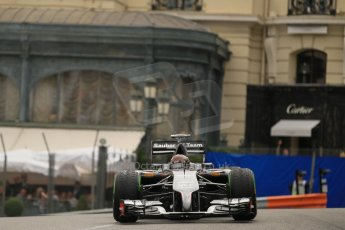World © Octane Photographic Ltd. Thursday 22nd May 2014. Monaco - Monte Carlo - Formula 1 Practice 2. Sauber C33 – Adrian Sutil. Digital Ref: 0960LB1D6538