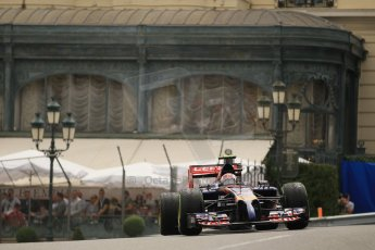 World © Octane Photographic Ltd. Thursday 22nd May 2014. Monaco - Monte Carlo - Formula 1 Practice 2. Scuderia Toro Rosso STR 9 – Daniil Kvyat. Digital Ref: 0960LB1D6547