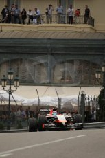 World © Octane Photographic Ltd. Thursday 22nd May 2014. Monaco - Monte Carlo - Formula 1 Practice 2. Marussia F1 Team MR03 - Max Chilton. Digital Ref: 0960LB1D6629