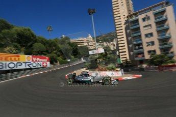 World © Octane Photographic Ltd. Saturday 24th May 2014. Monaco - Monte Carlo - Formula 1 Practice 3. Mercedes AMG Petronas F1 W05 Hybrid – Lewis Hamilton. Digital Ref: 0965LB1D7001