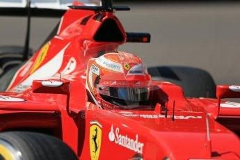 World © Octane Photographic Ltd. Saturday 24th May 2014. Monaco - Monte Carlo - Formula 1 Practice 3. Scuderia Ferrari F14T – Kimi Raikkonen. Digital Ref: 0965LB1D7144