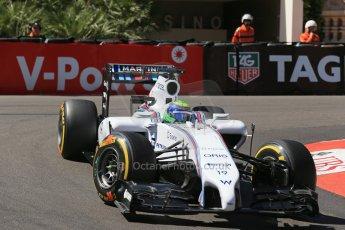 World © Octane Photographic Ltd. Saturday 24th May 2014. Monaco - Monte Carlo - Formula 1 Practice 3. Williams Martini Racing FW36 – Felipe Massa. Digital Ref: 0965LB1D7199
