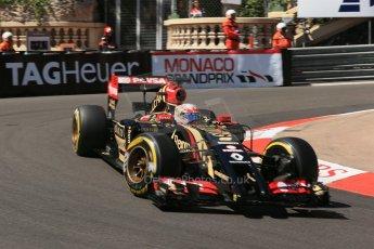 World © Octane Photographic Ltd. Saturday 24th May 2014. Monaco - Monte Carlo - Formula 1 Practice 3. Lotus F1 Team E22 - Romain Grosjean. Digital Ref: 0965LB1D7263