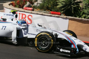 World © Octane Photographic Ltd. Saturday 24th May 2014. Monaco - Monte Carlo - Formula 1 Practice 3. Williams Martini Racing FW36 – Valtteri Bottas Digital Ref: 0965LB1D7275